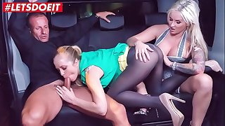 Lucky Taxi Driver gets to fuck two stunning Pornstars (Jarushka Ross, Sicilia Model)
