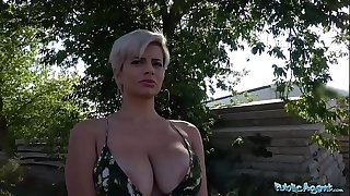 Public Agent Busty crazy MILF in scorching dirty blowjob and public fuck