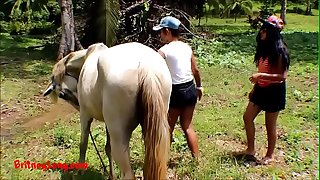 Real amateur teens heather deep and girlfriend String up HORSE COCK