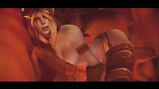 Sylvanas Gets Gangbanged And Takes A Creampie