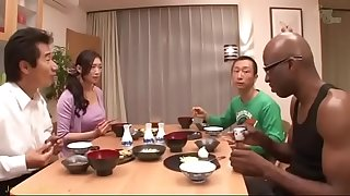 Japanese wife on black-reiko