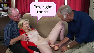 BLUE PILL MEN - Young Stacie Gets Schooled By Three Naughty Old Guys