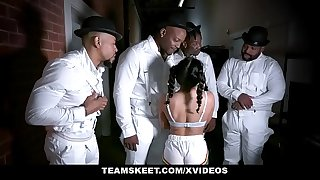 ExxxtraSmall - Small Bombshell Liv Revamped Fucked By Four Black Dudes