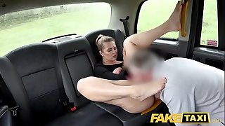 Fake Taxi Backseat nailing with hot blonde Czech tourist Nikky Dream