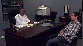 Principal and student hookup in office