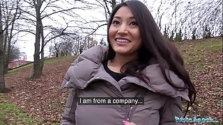 Public Agent Christina Miller Bitchy by Big Cock in Woods